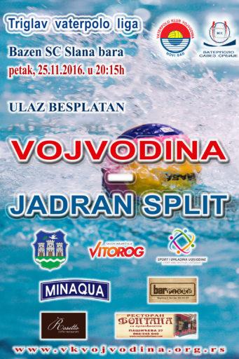 7. kolo Triglav vaterpolo lige, Vojvodina-Jadran Split
