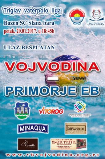 9. kolo Triglav vaterpolo lige Vojvodina – Primorje