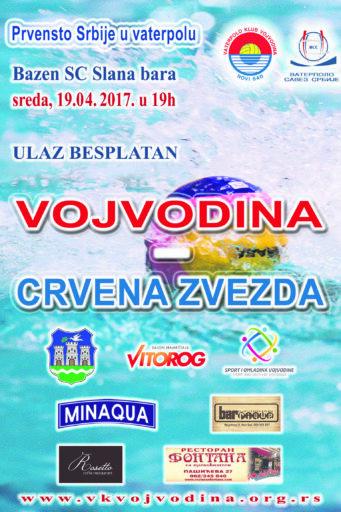 3. kolo Super lige Srbije VK Vojvodina-BVK Crvena zvezda