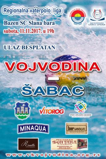 5. kolo Regionalne A2 vaterpolo lige, Vojvodina – Šabac
