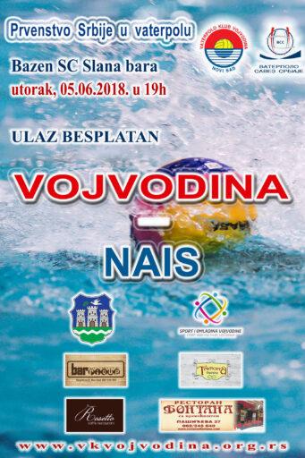 XIV kolo Prvenstva Srbije – Super liga, VOJVODINA – Nais
