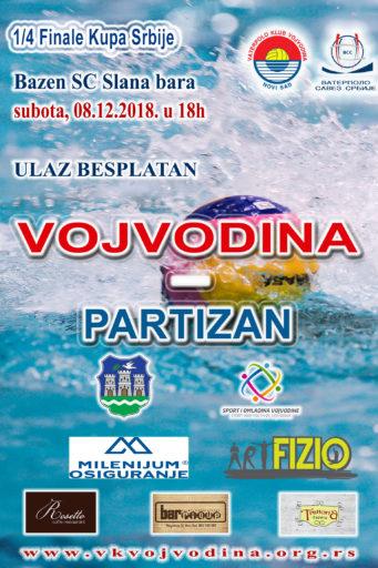 ¼ Finala Kupa Srbije, VOJVODINA – Partizan