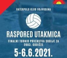 Finalni turnir Prvenstva Srbije za 2003.godište  Novi Sad 05. – 06.06.2021.